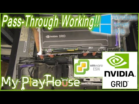 Nvidia Grid K1 Pass-Through Working On Microsoft Server 2016 - 417
