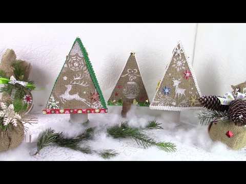 Декоративные ёлочки / Decorative Christmas trees. ХоббиМаркет