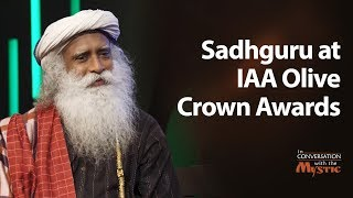 Sadhguru at IAA Olive Crown Awards