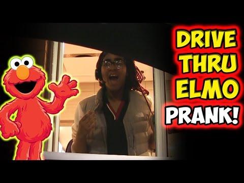 Drive Thru Elmo Prank!