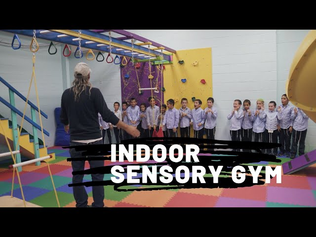 Indoor Sensory Gym.Sensory Integration to improve attention, behavior and motor skills in schools.