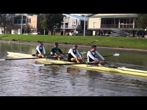 Rowing in Four in Melbourne in lead up to London
