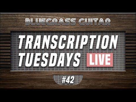 Transcribing breaks from Billy Strings, Chris Eldridge, Trey Hensley!