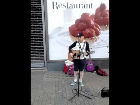 When you say nothing at all. Ronan keating. Acoustic cover busking