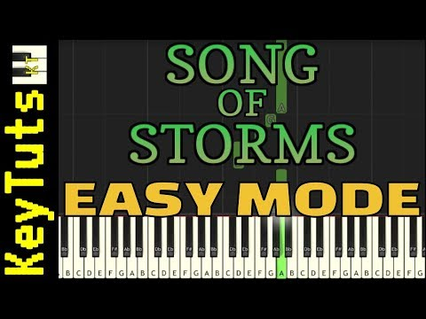 Learn to Play Song of Storms from Legend of Zelda - Easy Mode