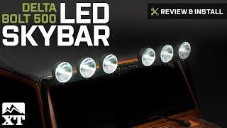 Download Video Jeep Wrangler Delta BOLT 500 LED SkyBar (2007-2017 Wrangler JK) Review & Install MP3 3GP MP4
