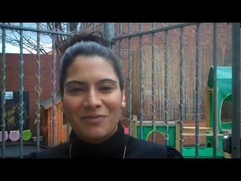 Meena Bharadwa at social media surgery for Birmingham Settlement 19 April 2012