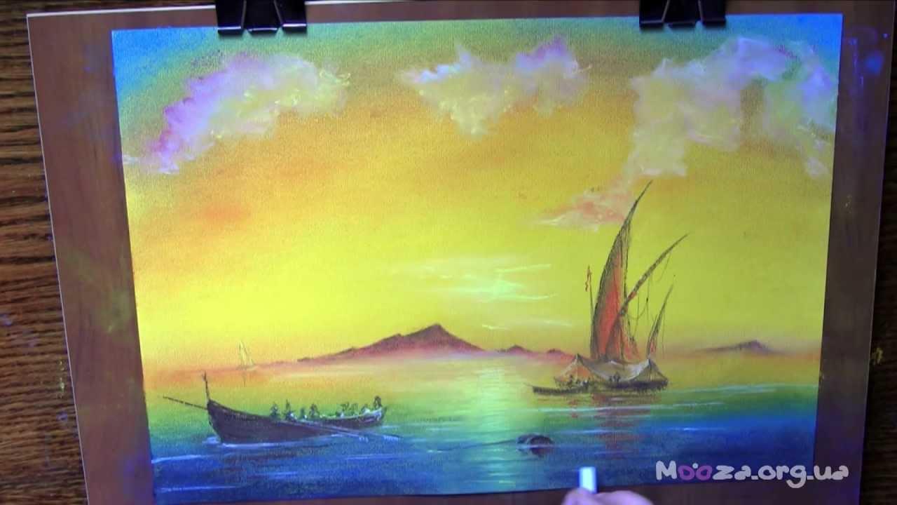 Работы пастелью мастер класс