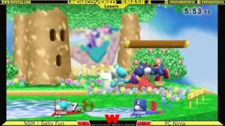 Undiscovered Smash 4 - [Losers] NSM   Salty Fun (Light Blue Yoshi) vs PC Ninja (Blue Yoshi)