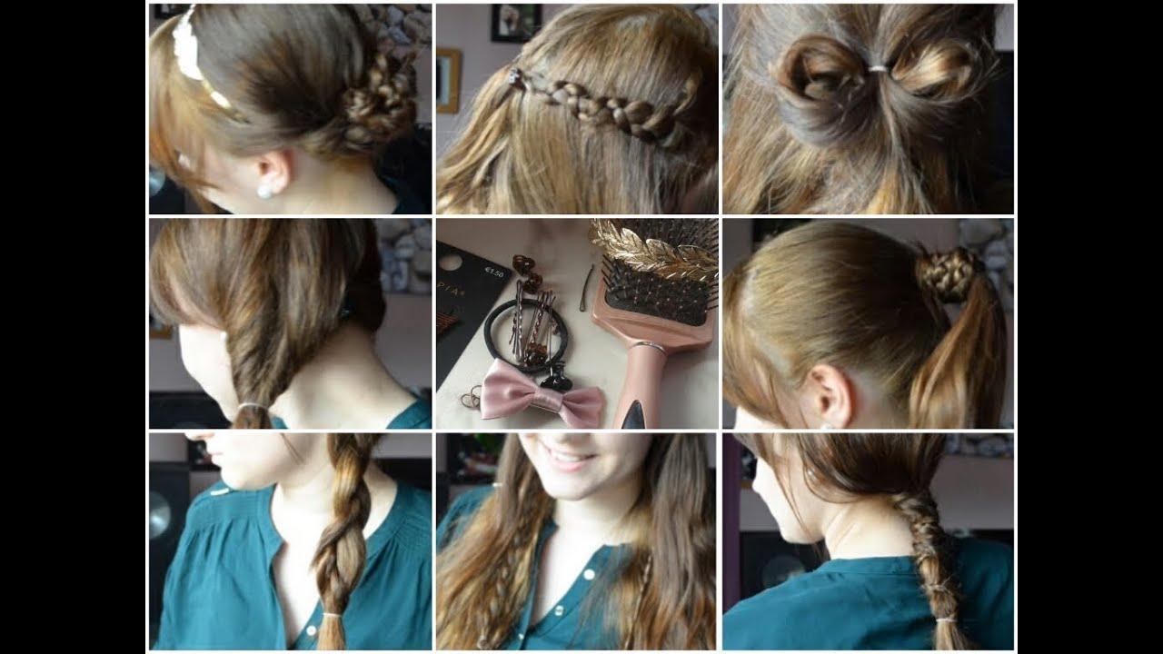Schöne Einfache Und Schnelle Frisuren Für Den Alltag YouTube
