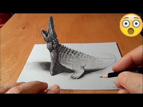 DIBUJOS EN 3D / COCODRILO-SERPIENTE
