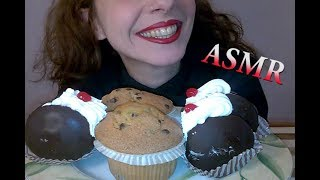 ASMR eating Dessert: Chocolate Eclairs and Muffins with Chocolate Chips (NO TALKING)