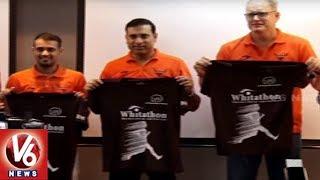 SRH Team Launches Waitathon Jersey In Hyderabad | VVS Laxman |…