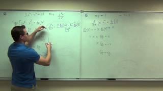 Calculus 1 Lecture 2.7:  Implicit Differentiation