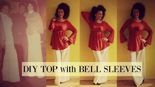 DIY Top with Bell Sleeves in 20min