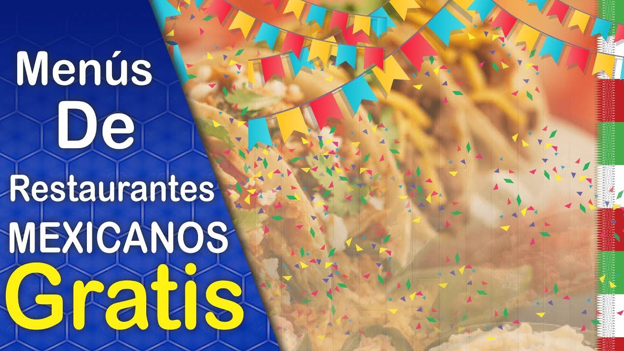 Diseños de Menús para restaurantes Comida Mexicana editables ...