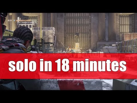 The Division 1.8.1 - GRAND CENTRAL STATION - NEW LEGENDARY MISSION SOLO IN 18 MIN