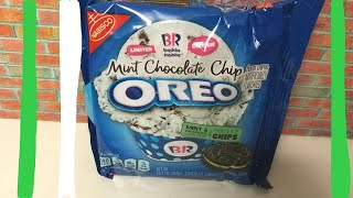 Limited Edition Baskin Robbins Mint Chocolate Chip Oreo Food Review & Taste Test