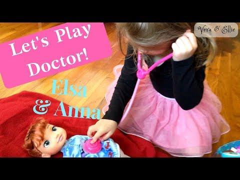 Frozen's Elsa and Anna Visit Doctor Vera