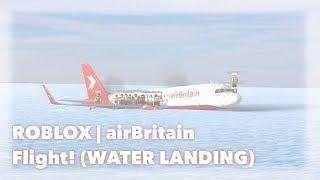 ROBLOX | airBritain A320 vôo! ATERRAGEM DA ÁGUA
