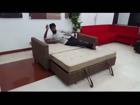 Sofa Cum Bed Made With Stainless Steel Youtube
