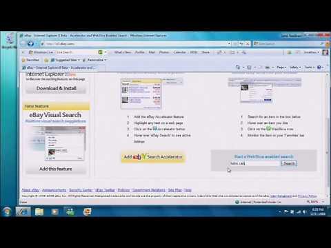 Internet Explorer 8 - Web Slices