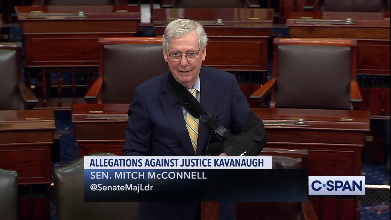 CSPAN Senate Majority Leader Mitch McConnell on Allegations Against Justice Brett Kavanaugh