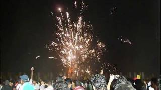 Fireworks in Colombo, Sri Lanka, New Year's Eve  2011-2012