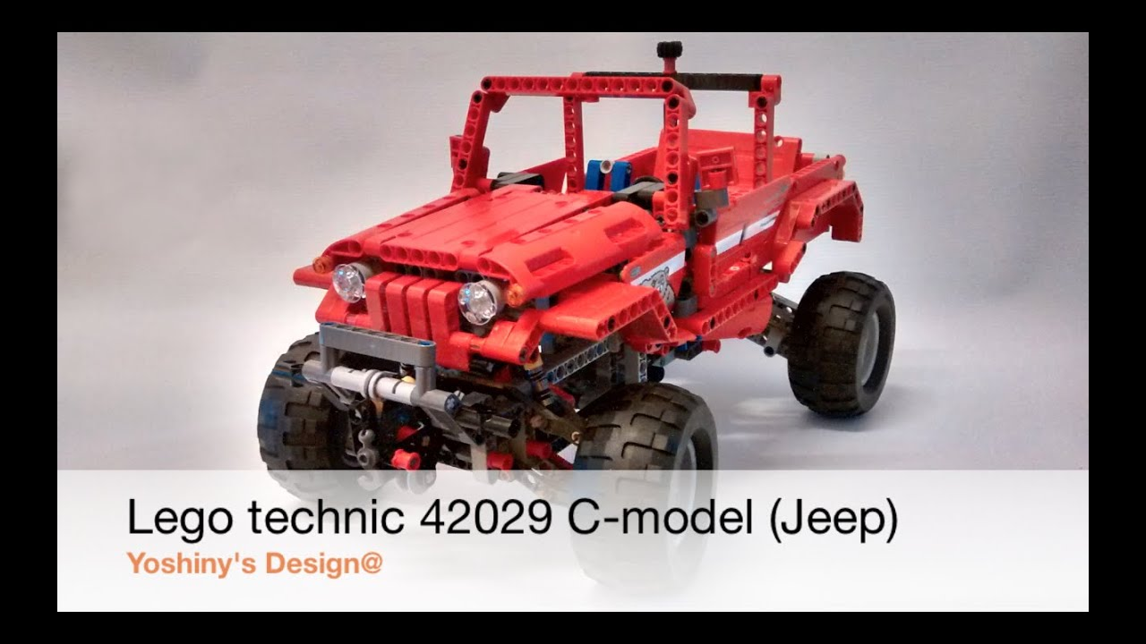 build lego jeep from technic set 42029 c model jeep. Black Bedroom Furniture Sets. Home Design Ideas