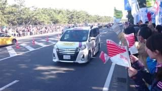 箱根駅伝 2017  3区  茅ヶ崎 【青学トップに立った瞬間】