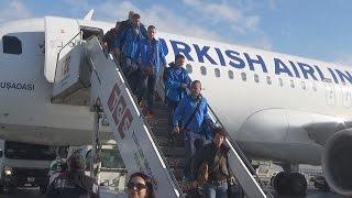 """Само в Левски ТВ: Ето как  """"сините"""" пристигнаха в Турция"""