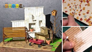 How to make a Diorama.MiniatureGarden . cobaanii mokei kobo diorama...