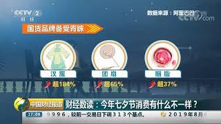 [中国财经报道]财经数读:今年七夕节消费有什么不一样?| CCTV财经