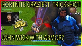JOHN WICK WEARING ARMOR GLITCH?!?! CRAZIEST TRICKSHOT OF ALL TIME!!!! Fortnite highlights #210