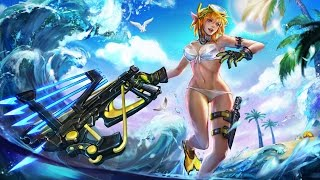 Vainglory Summer Party Kestrel REAL GAMEPLAY - AMAZING SLOW MOTION ANIMATIONS