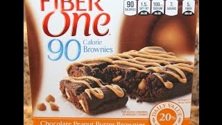 Fiber One: Chocolate Peanut Butter Brownies Food Review