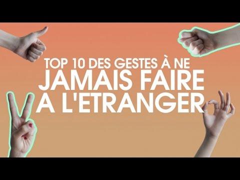 Top 10 des gestes à ne pas faire à l'étranger