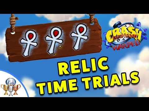 Crash Bandicoot 3 Warped  - All 30 Gold / Platinum Time Trial Relics Walkthrough