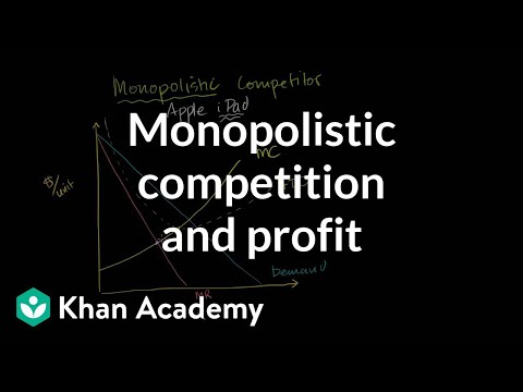 Monopolistic competition and economic profit | Microeconomics | Khan Academy