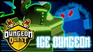 DEFEATING THE ICE DUNGEON!!! | DUNGEON QUEST | ROBLOX
