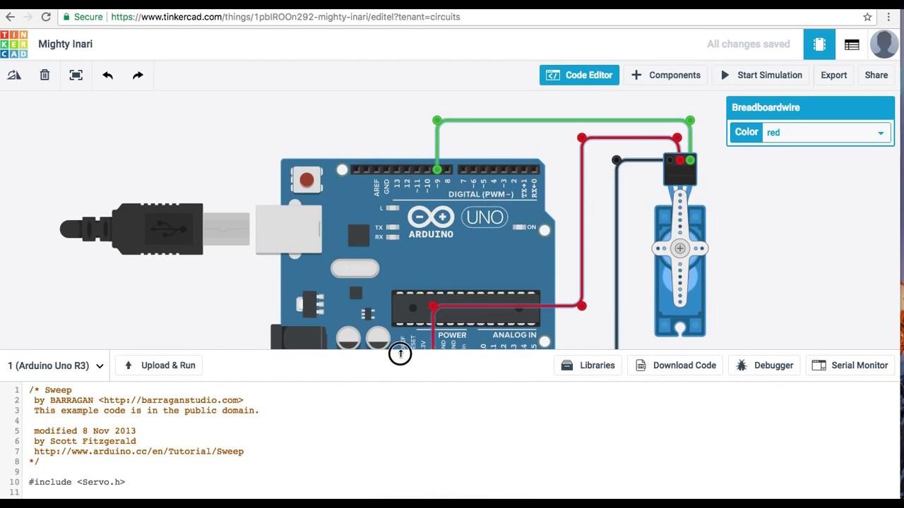 Free arduino simulator servo motor youtube