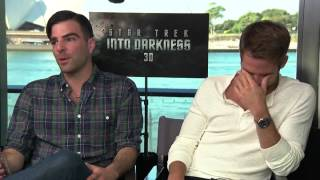 Chris Pine and Zachary Quinto on Star Trek fans and Into Darkness