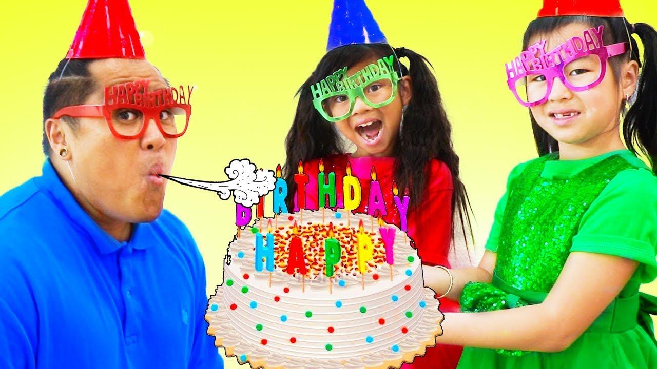 Happy Birthday Song  Emma & Jannie Sing-Along Nursery Rhymes & Kids Song