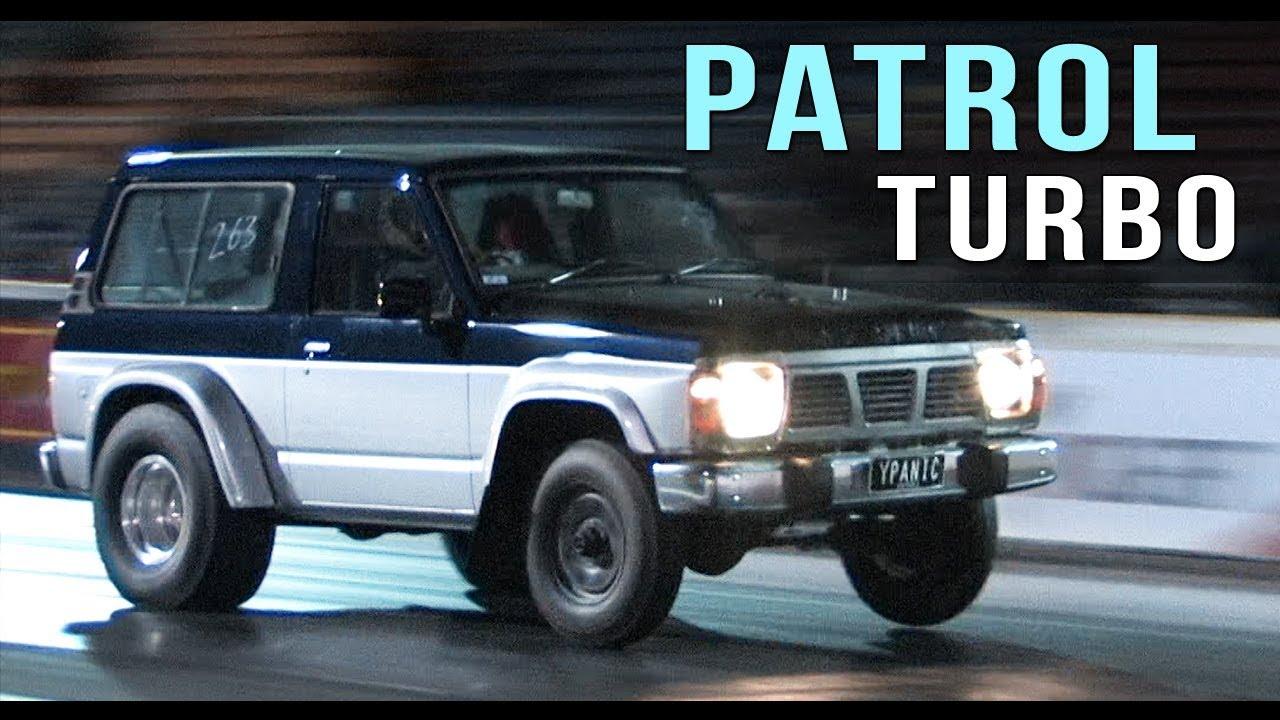 Wheels up Nissan Patrol turbo