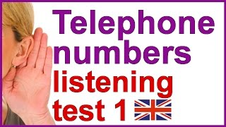Telephone number listening practice in English