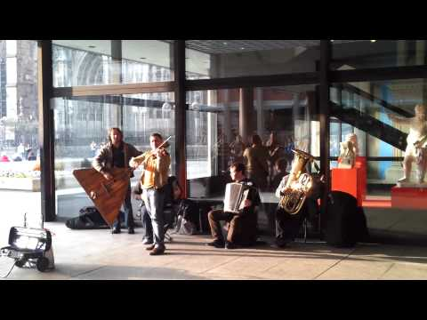 Brilliant Russian Street Musicians Play Vivaldi's Winter Outside Cologne Cathedral -  24 March 2012