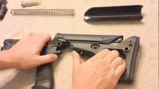 Magpul UBR Stock install on an AR-15 SBR for educational purposes
