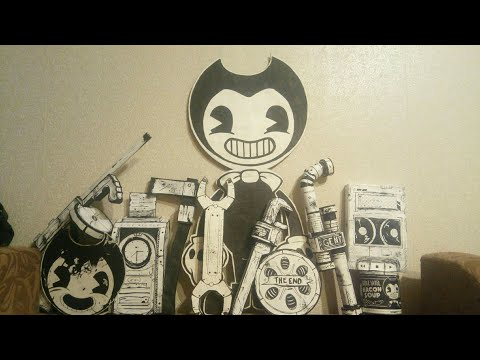 ПОДЕЛКИ ИЗ БЕНДИ, BENDY AND THE INK MACHINE, своими руками, видеообзор