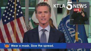 Coronavirus: Gov. Gavin Newsom addresses federal response to unemployment in California