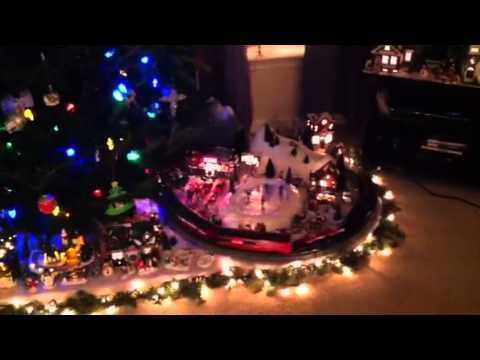 Lionel train layout under the Christmas tree 2012 - YouTube